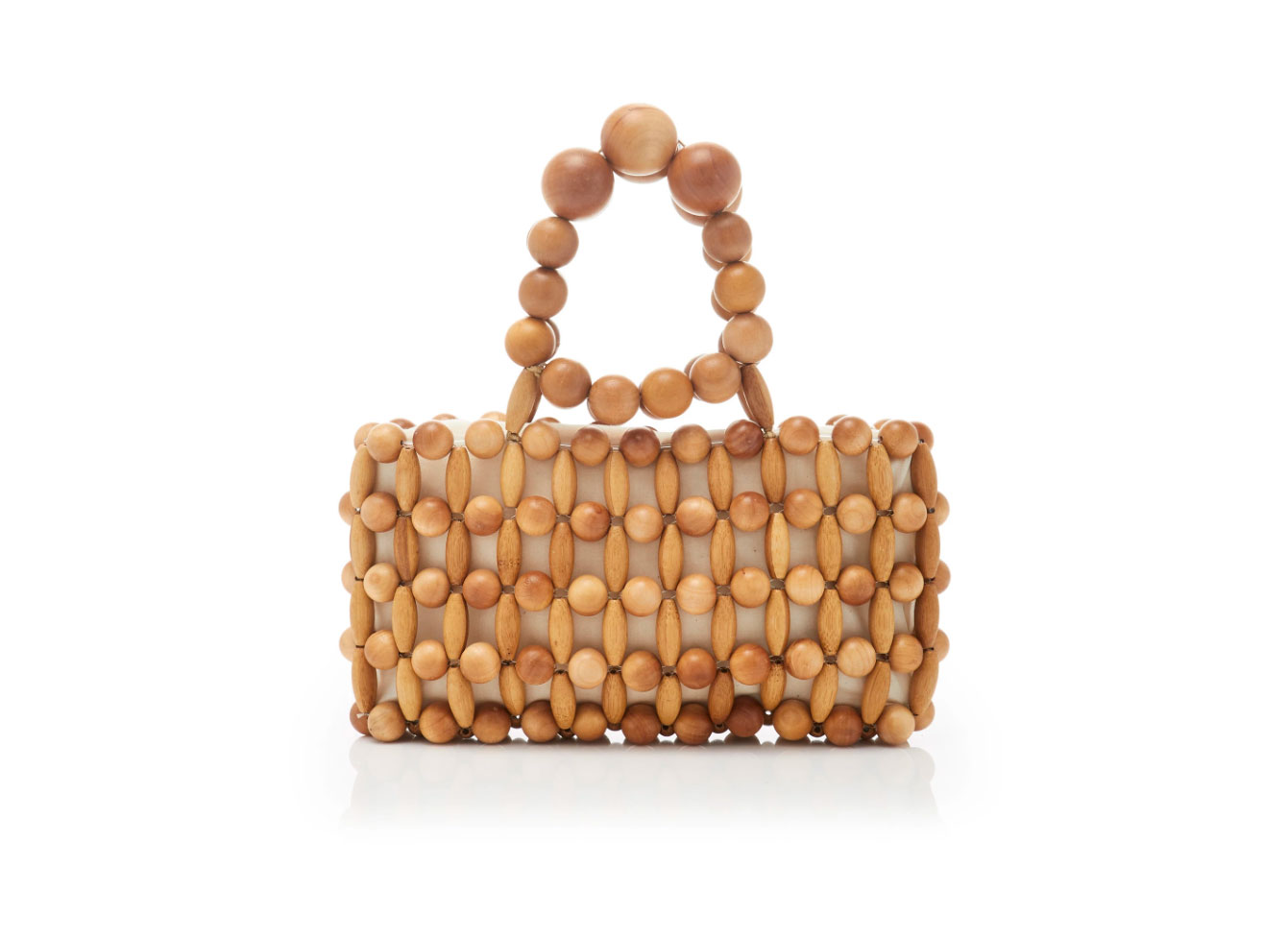 Cult Gaia Cora Wooden Clutch