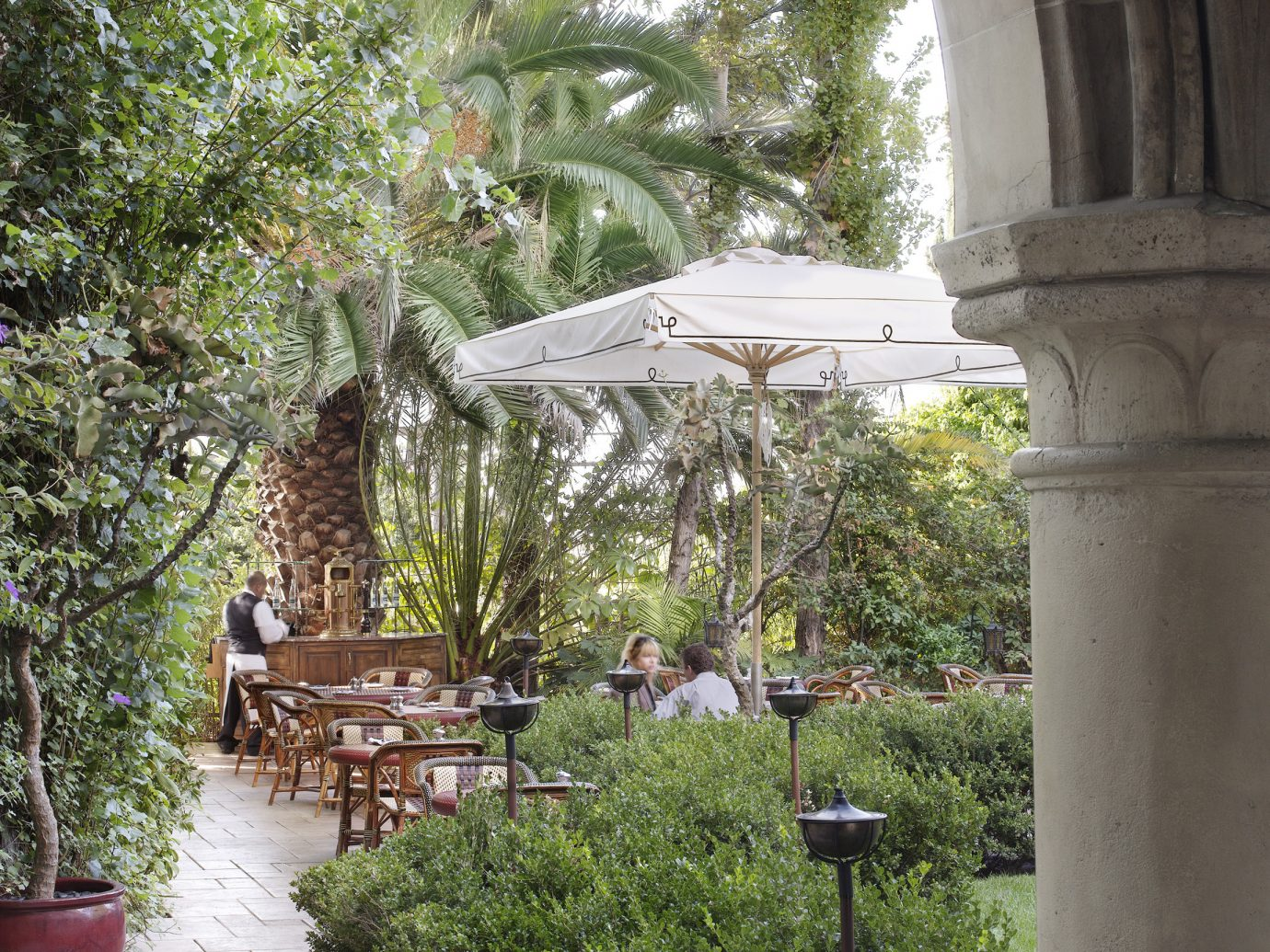 Outdoor dining at Chateau Marmont, LA