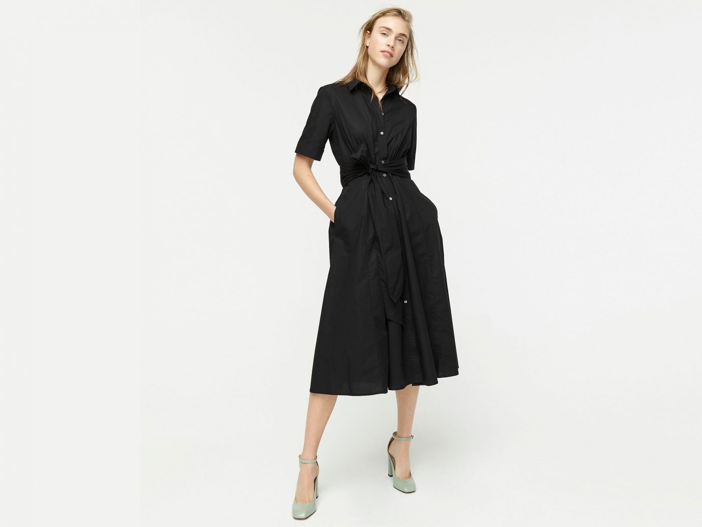 J.Crew Tie-waist short-sleeve shirtdress