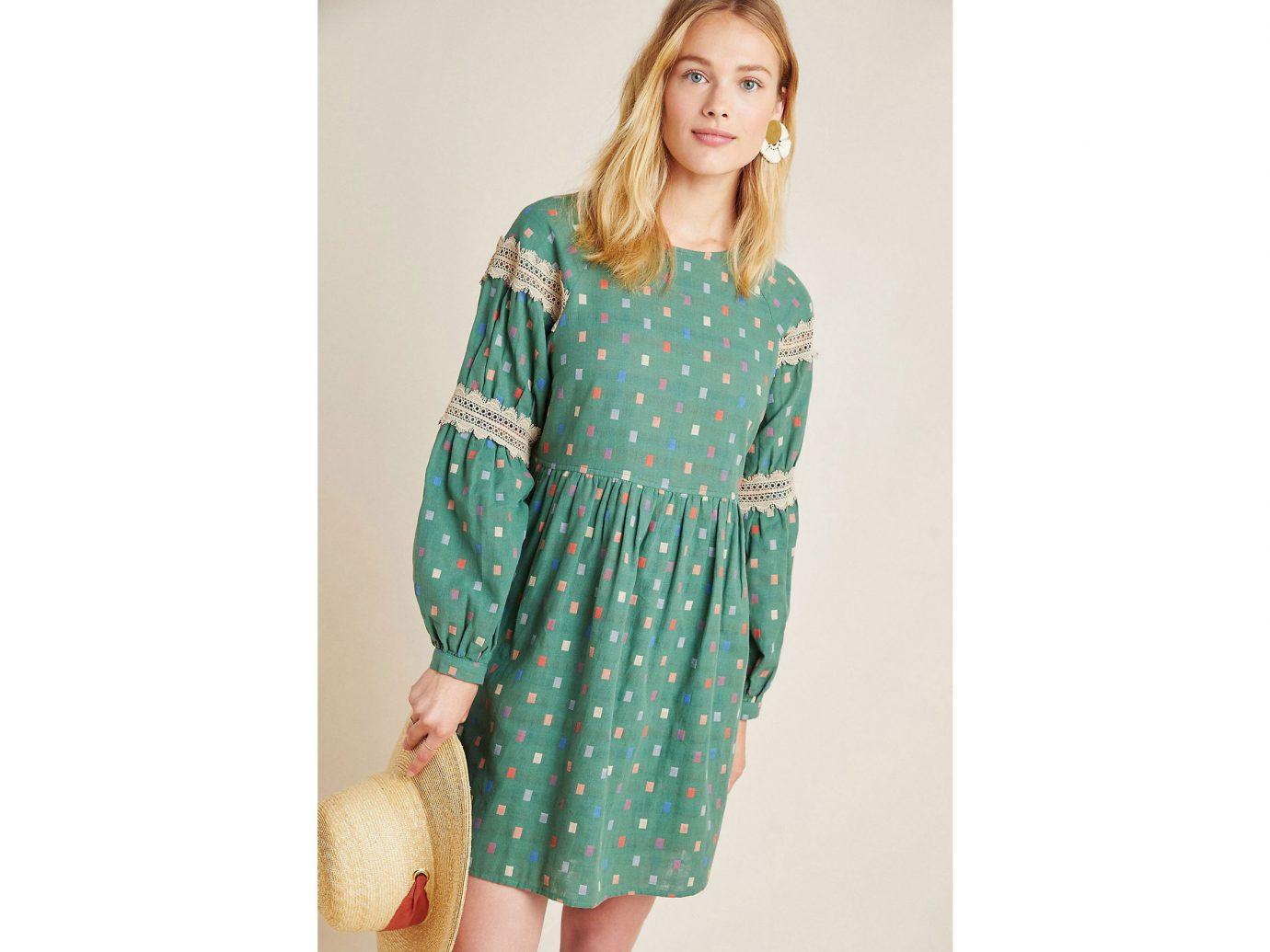 Isabetta Puff-Sleeved Tunic Dress