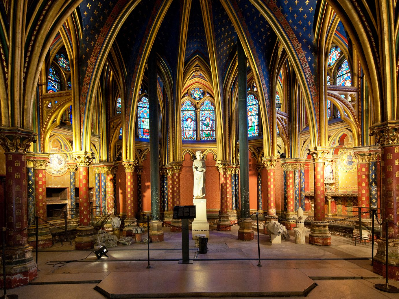 The Sainte-Chapelle is a royal medieval Gothic chapel in Paris, France.