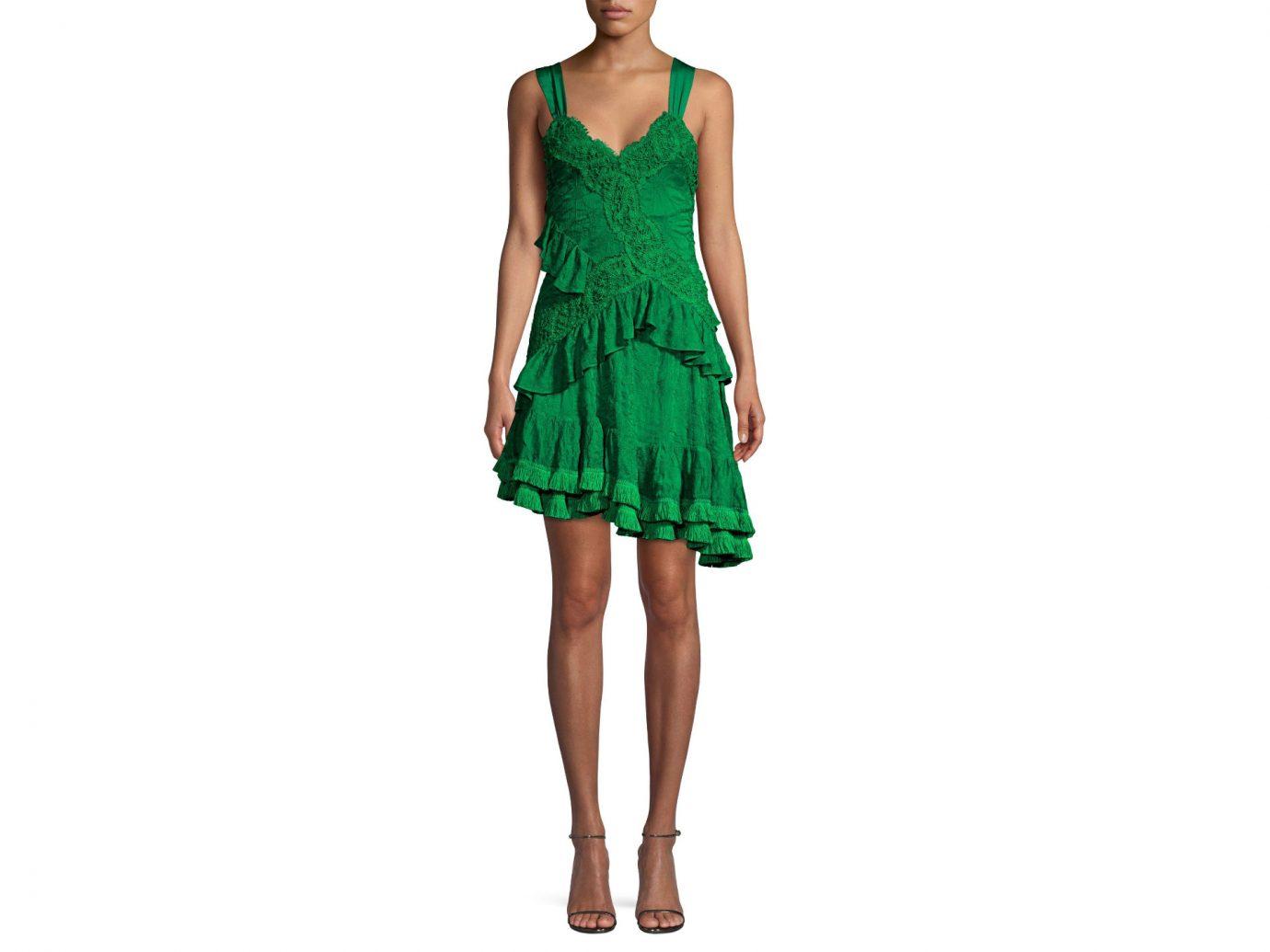 Alexis Lakshmi Ruffle Lace Mini Dress
