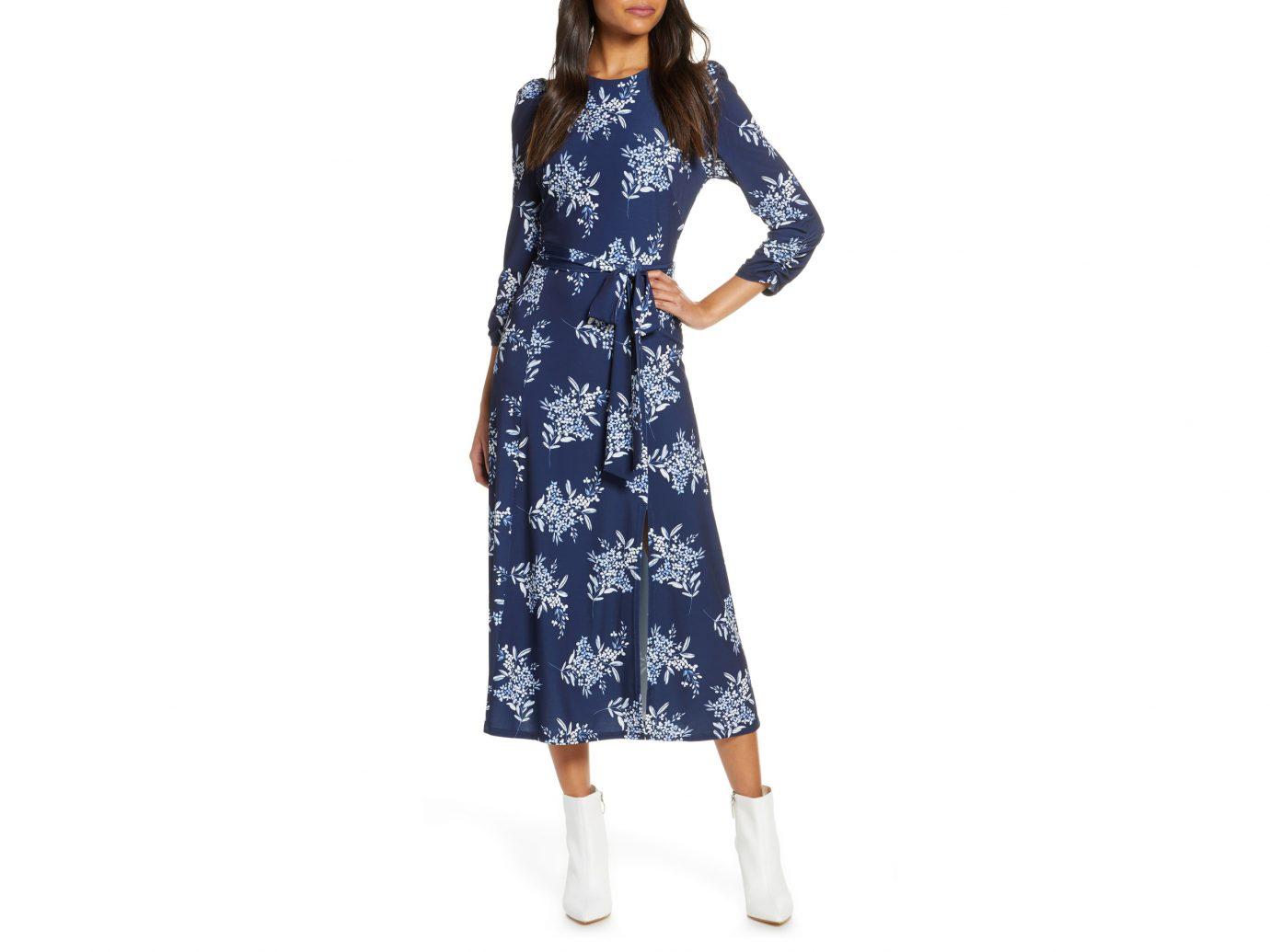 Eliza J Floral Jersey Midi Dress