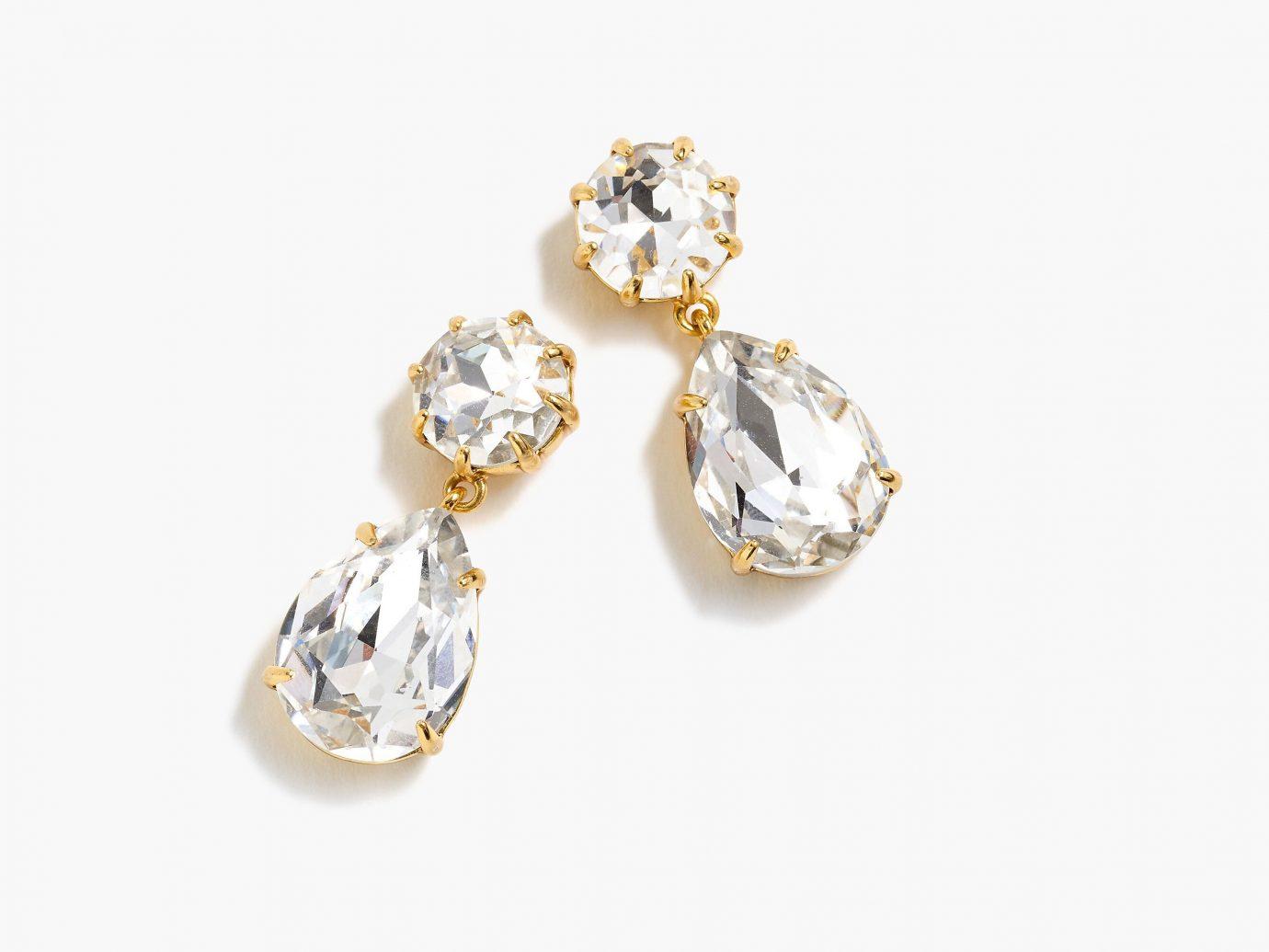 J.Crew Pear-shaped Stone Drop Earrings