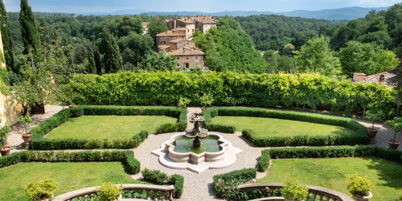 grounds at Il Borro