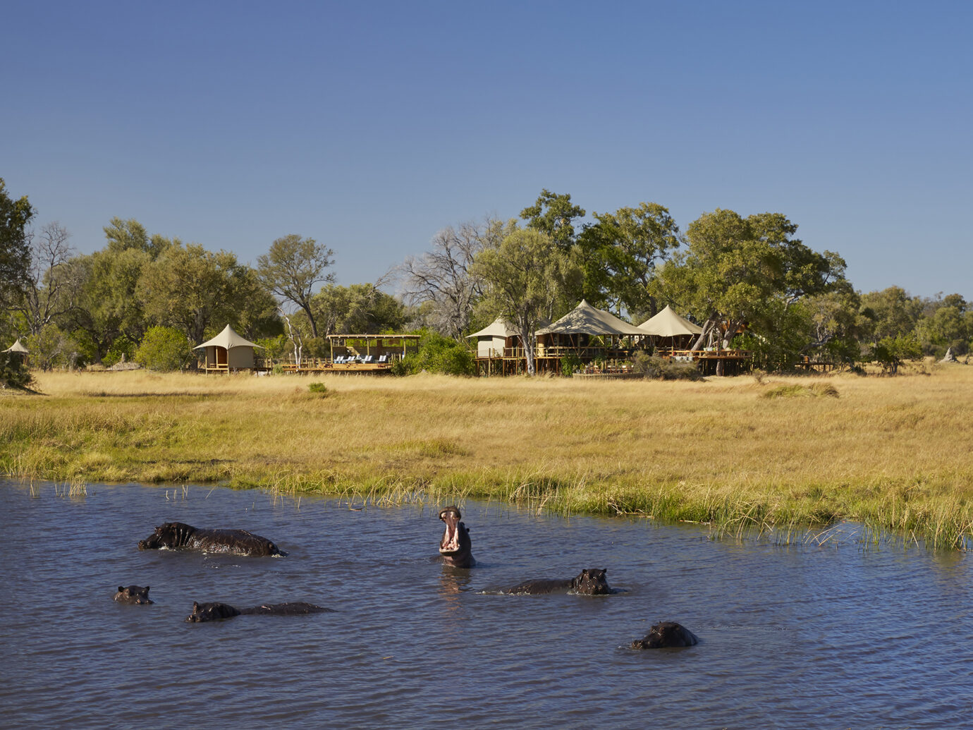 Exterior of Tuludi Camp, Botswana