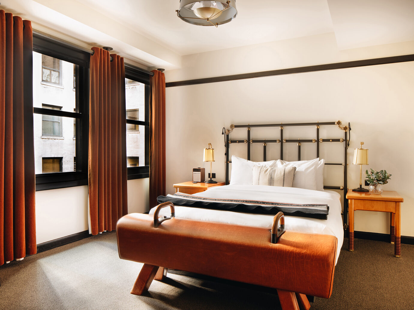 Queen bedroom at the Chicago Athletic Association