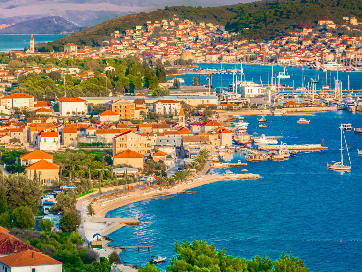 Aerial of Split, Croatia