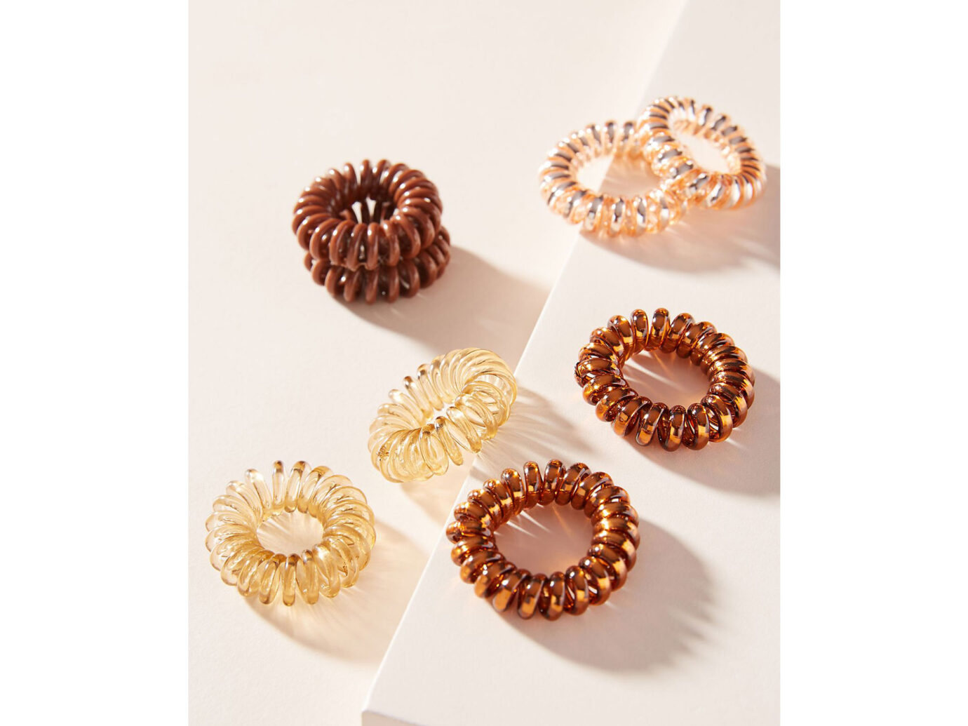 Anthropologie Mini Coiled Hair Tie Set
