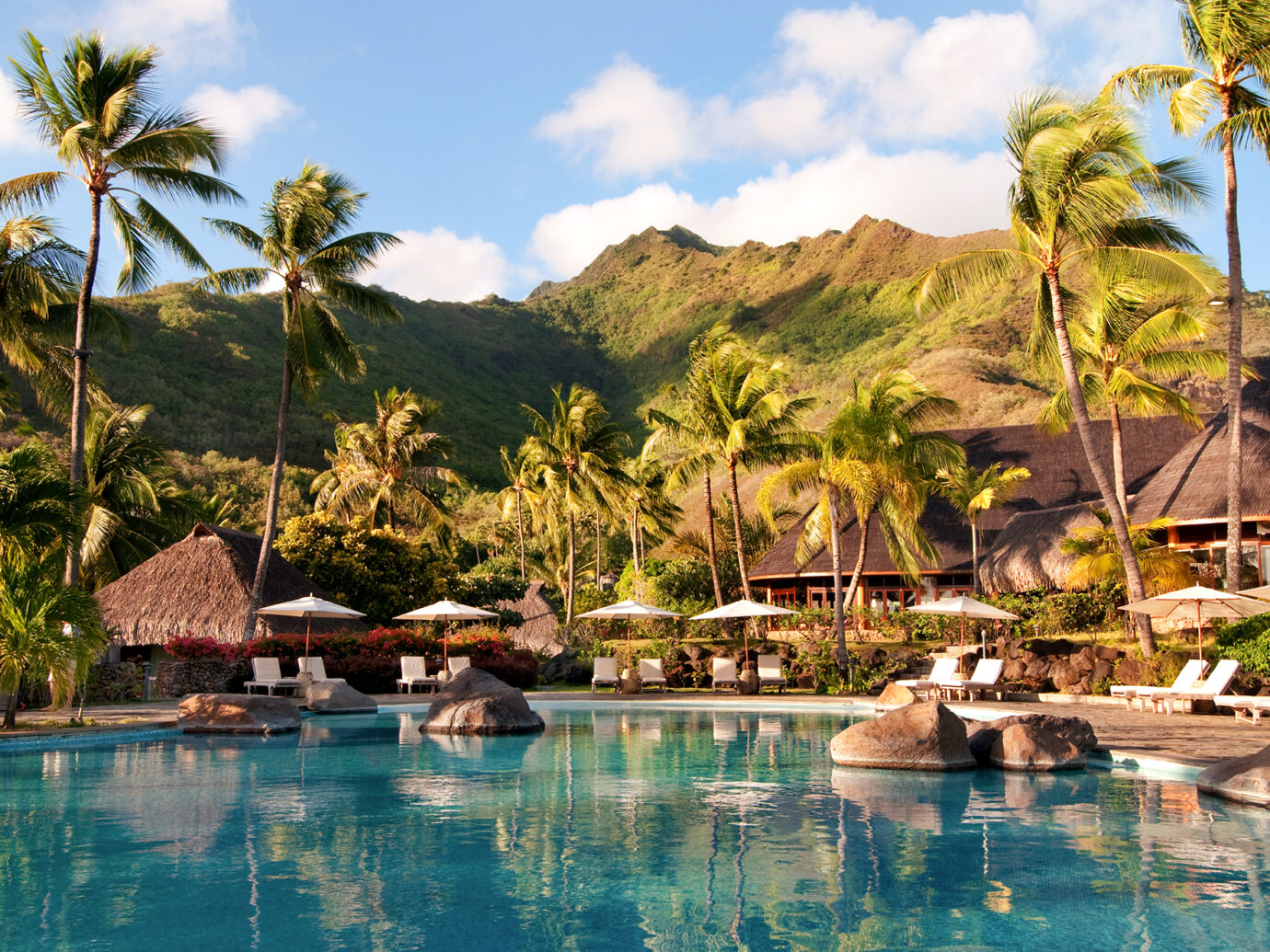 Pool at Hilton Moorea