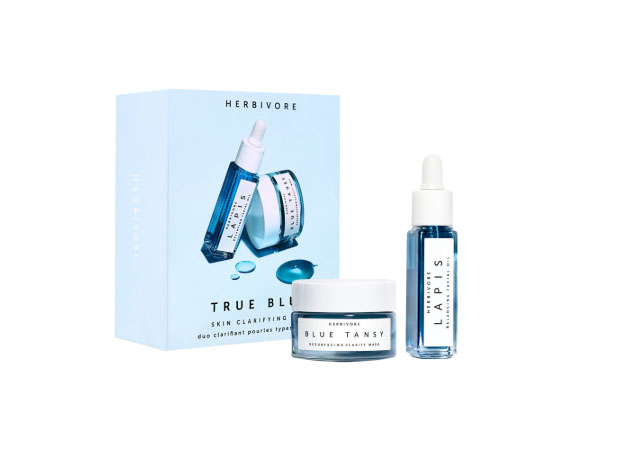 Herbivore TRUE BLUE Mini Skin Clarifying Duo