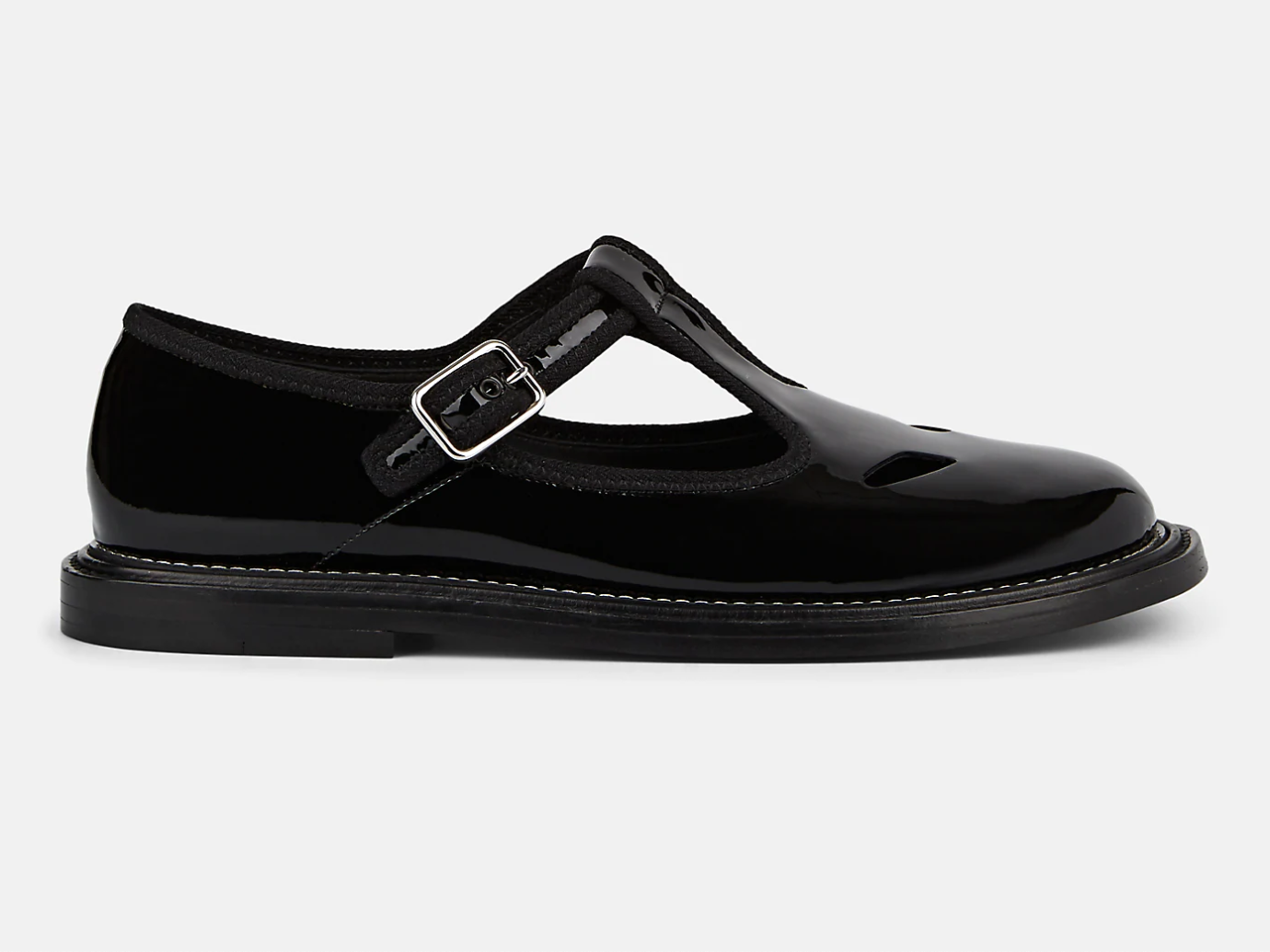 Burberry Alannis Patent Leather Mary Jane Flats