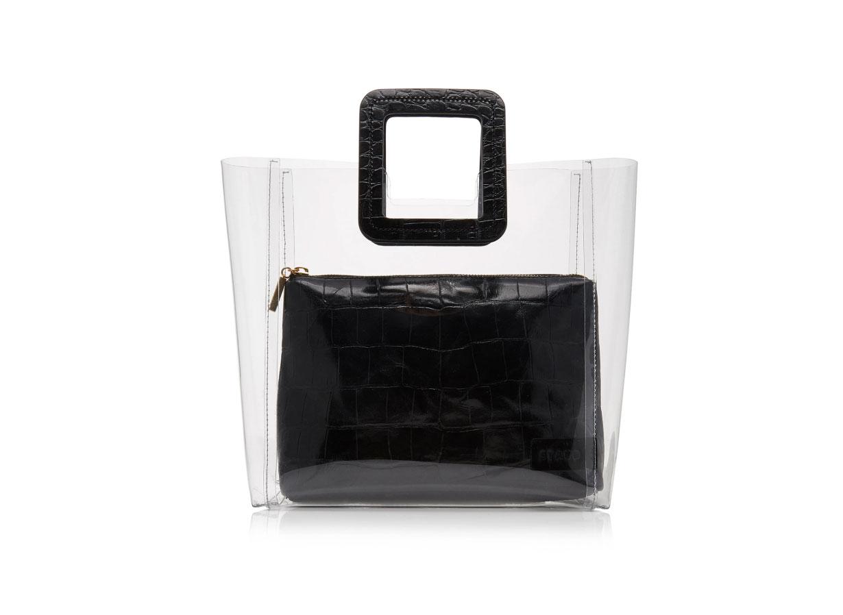 Staud Shirley Croc-Effect Leather Tote Bag