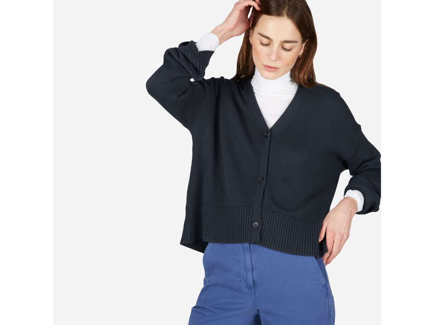Everlane The Soft Cotton Square Cardigan