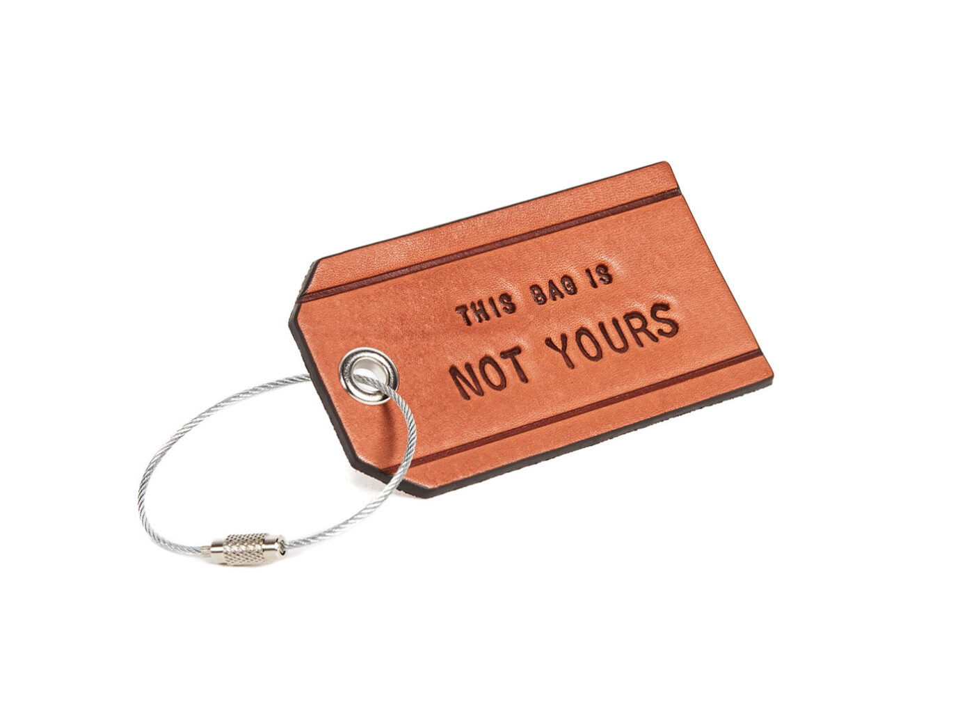 Boarding Pass Leather Luggage Tag