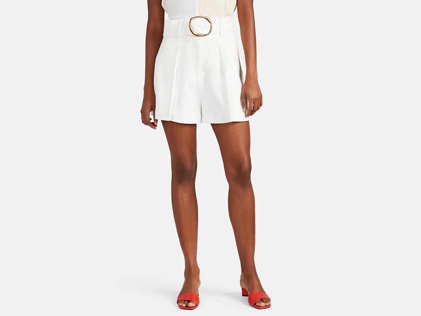 DEREK LAM 10 CROSBY Crepe Belted Shorts