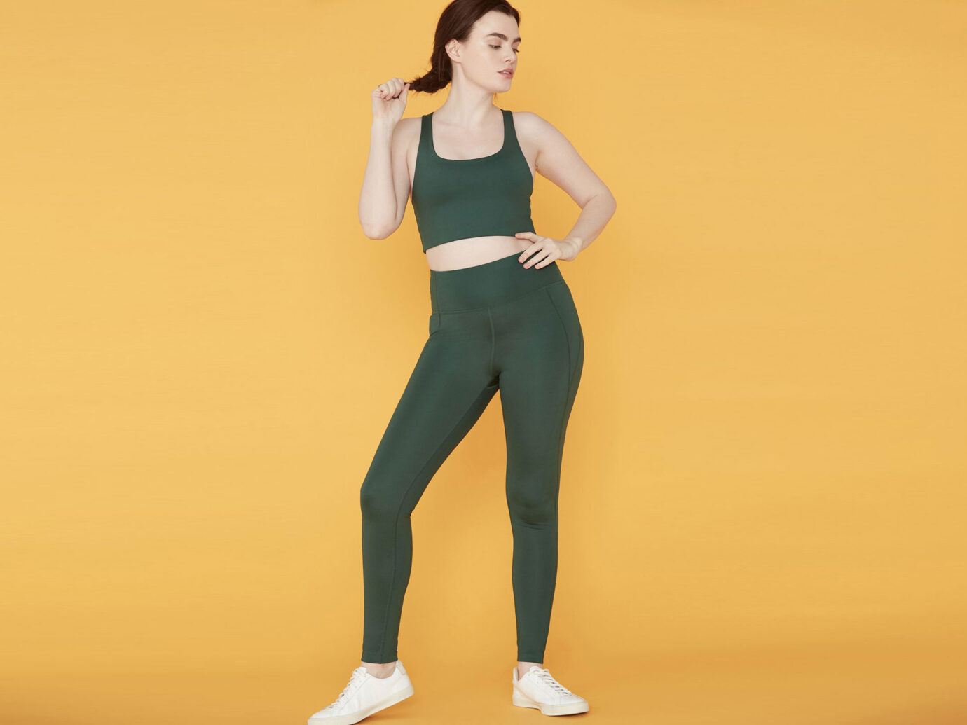 Girlfriend Collective Moss Compressive High-Rise Legging