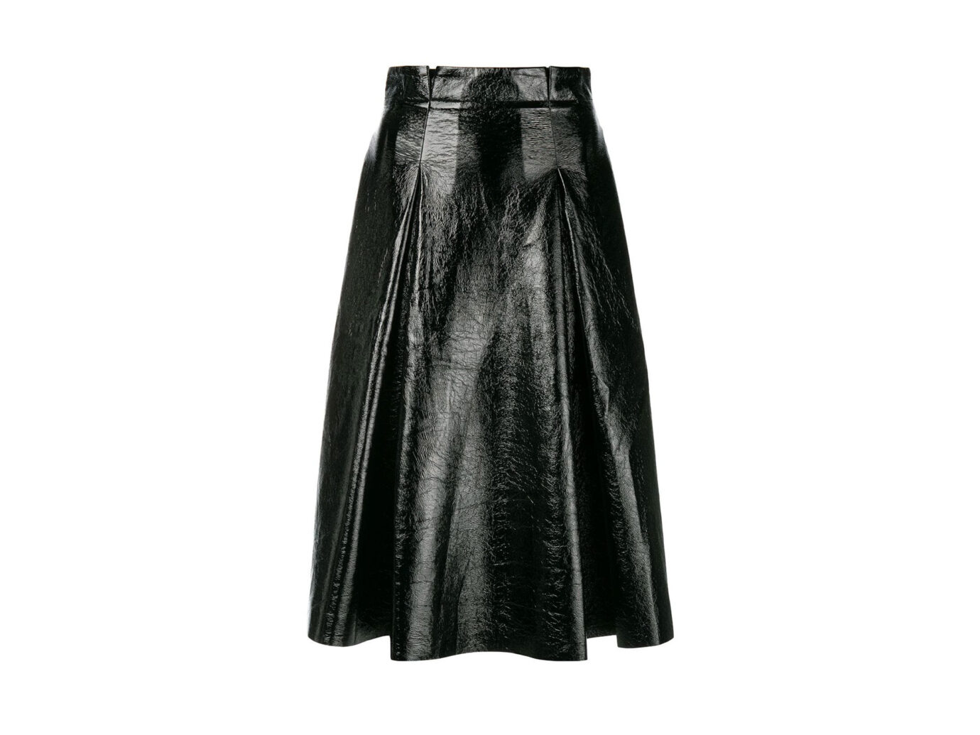 Three Floor Vernished Flared Skirt