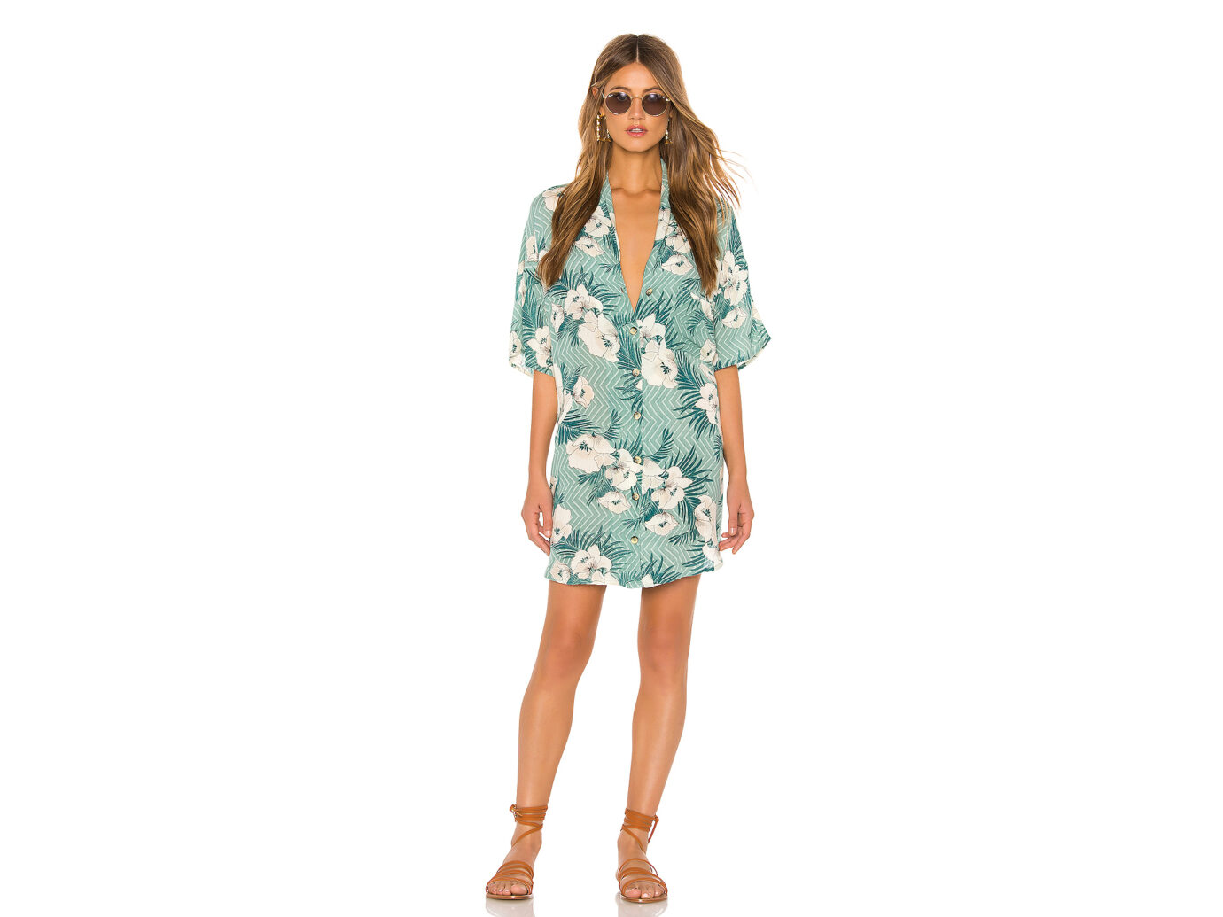 Amuse Society Island Oasis Button Up Dress