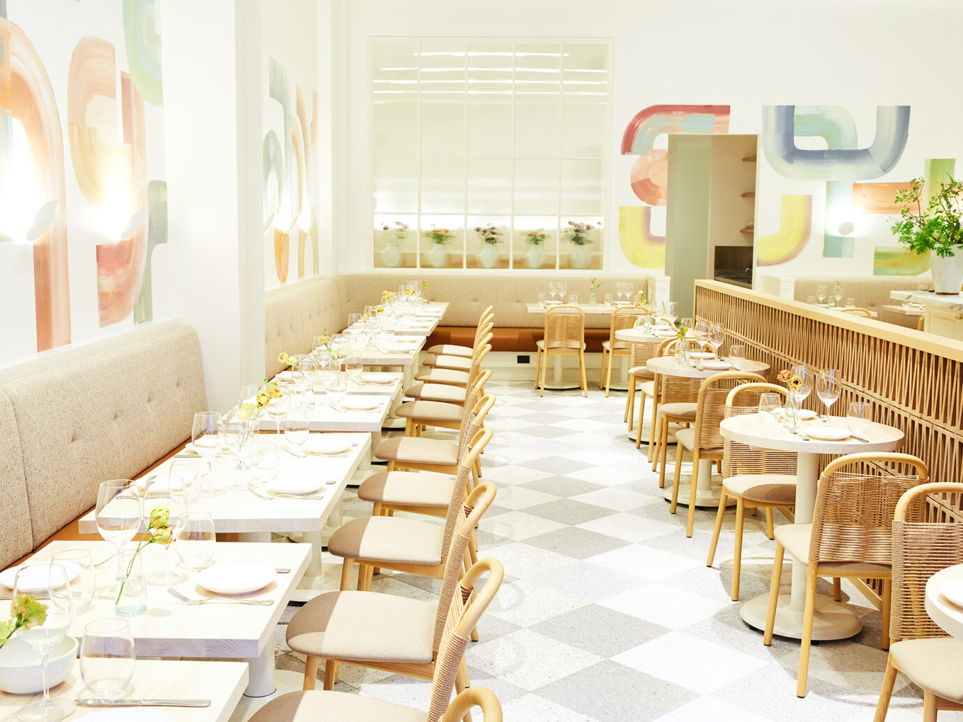 Dining room at Il Florista in NYC