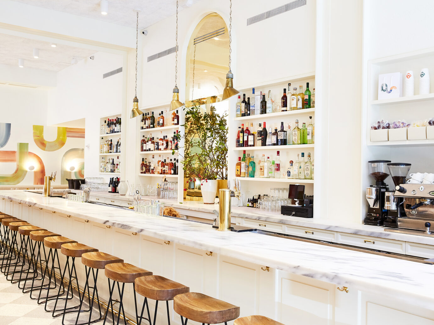 Bar at Il Florista in NYC