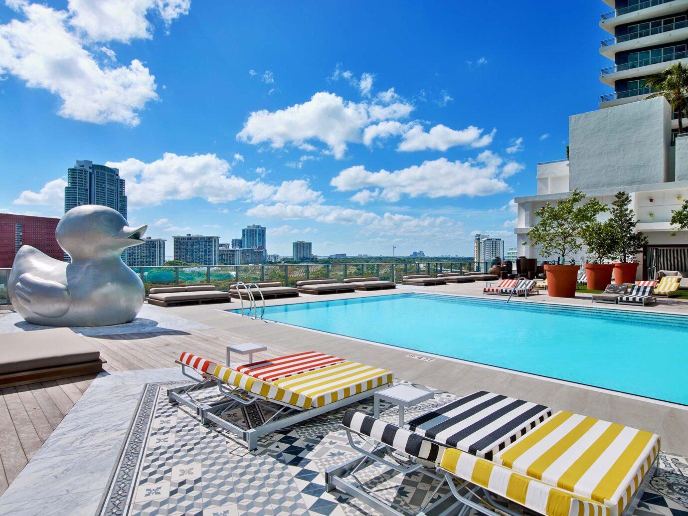 Pool at SLS Brickell, Miami, FL