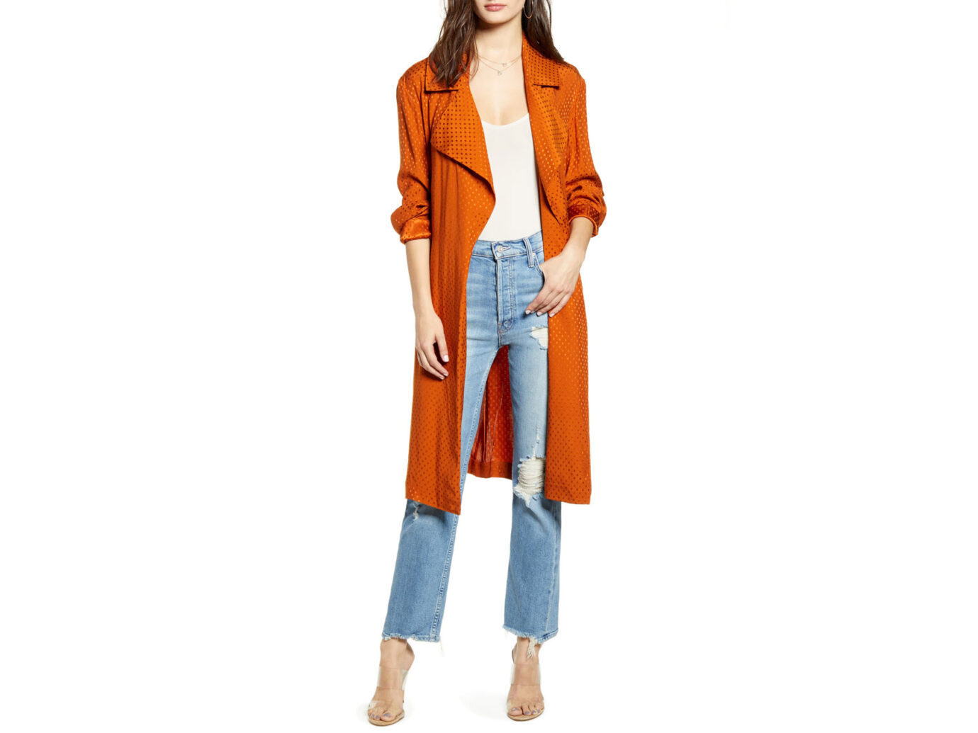 Leith Dot Soft Trench Coat