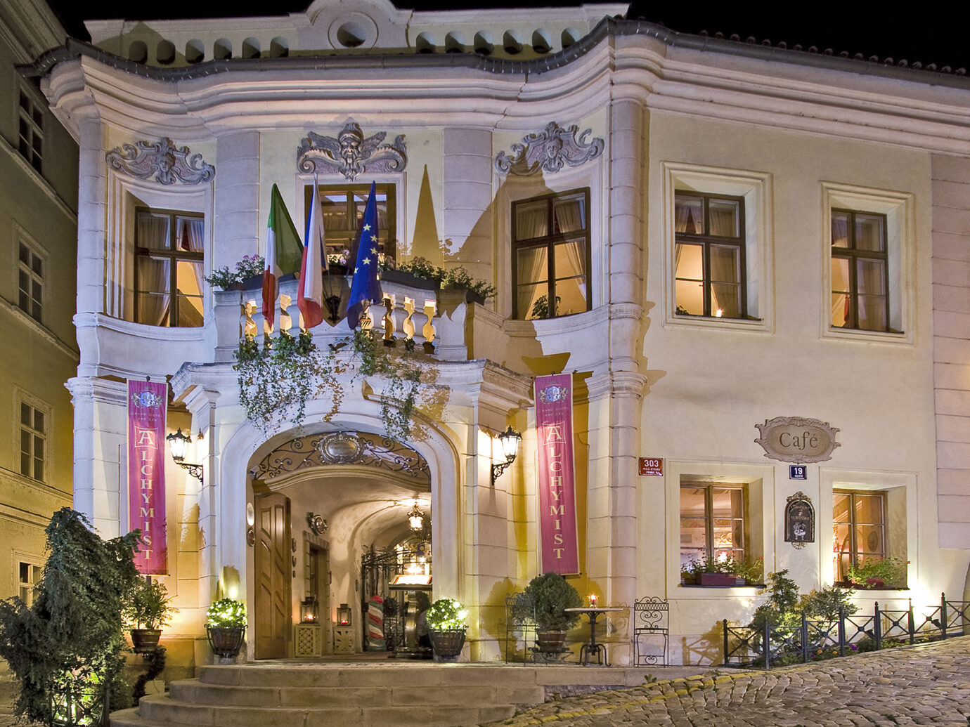 Exterior of Alchymist Grand Hotel & Spa, Prague, Czech Republic
