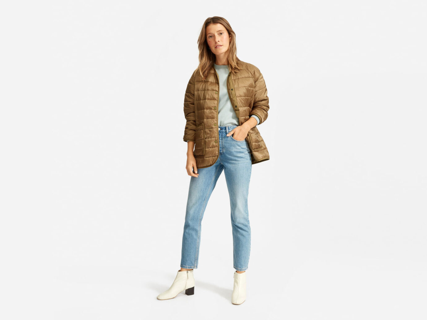 Everlane The ReNew Snap-Front Line