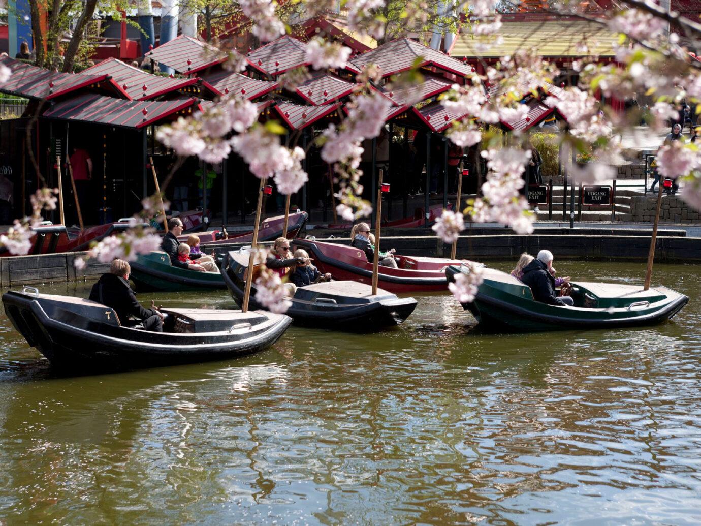 boat ride at Tivoli Gardens, Copenhagen, Denmark