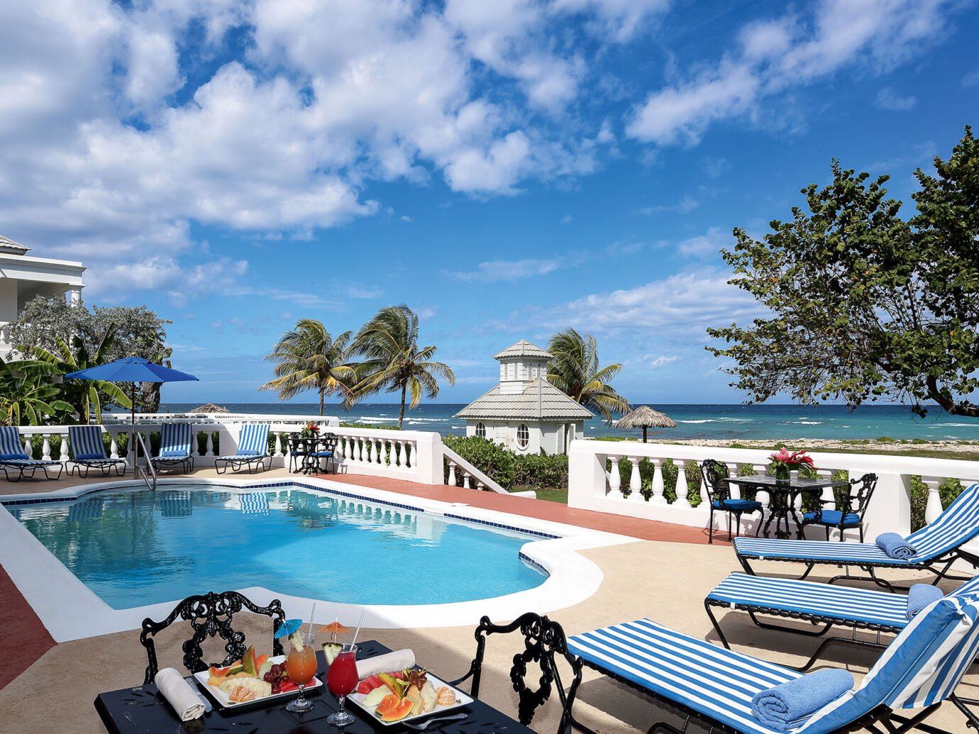 Pool of a villa at Half Moon, Montego Bay, Jamaica