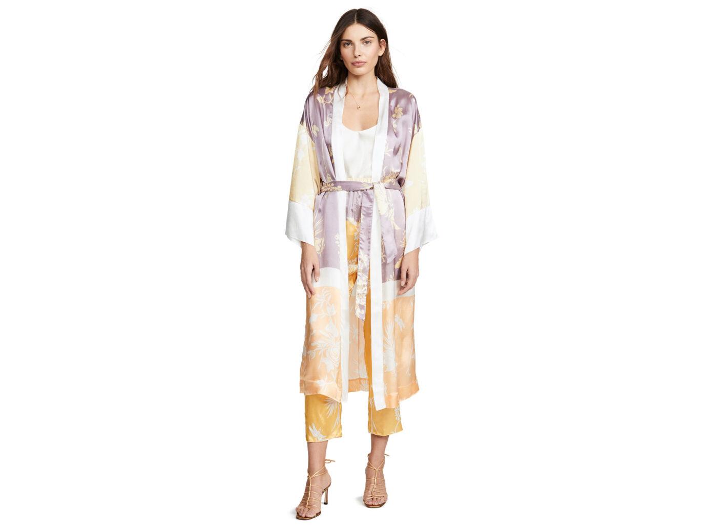 Forte Forte Bougainvillea Print Twill Kimono