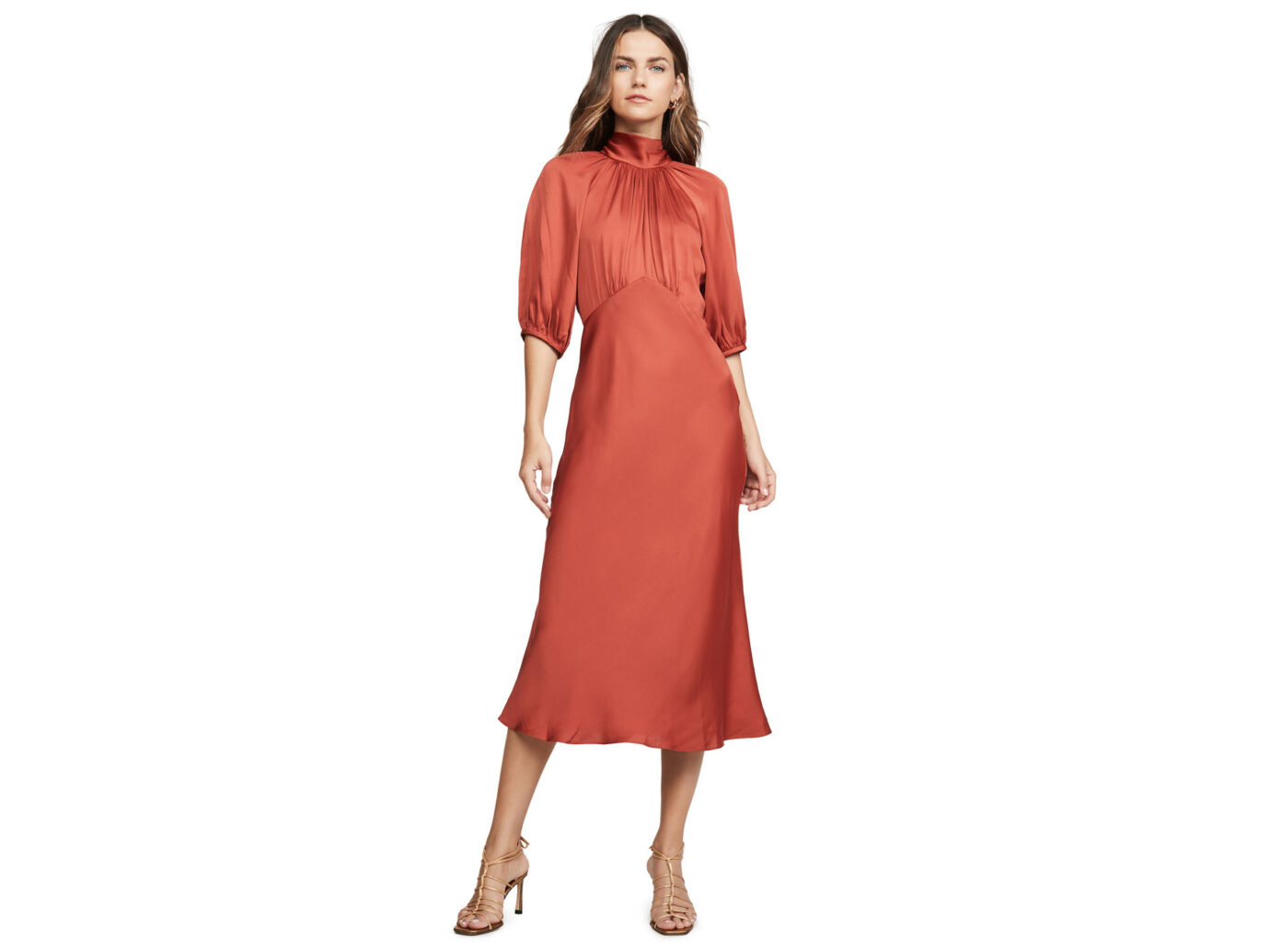 Rebecca Taylor Short Sleeve Satin Tye Dress