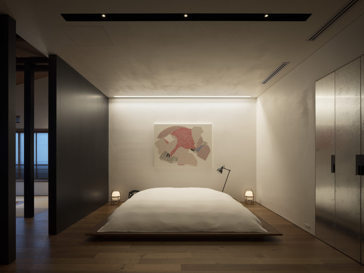 Bedroom at Trunk House in Tokyo