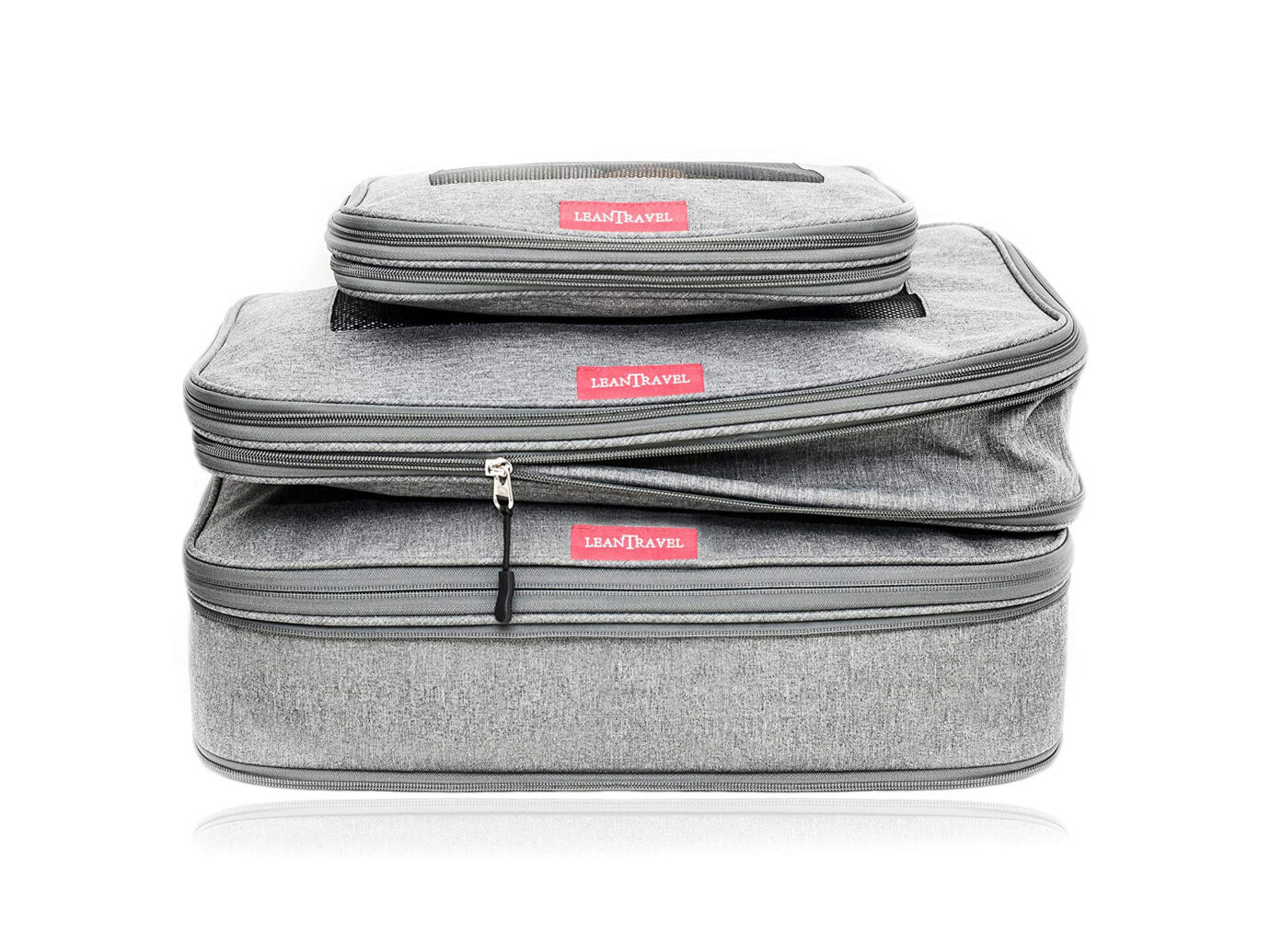 LeanTravel Compression Packing Cubes Set of 3