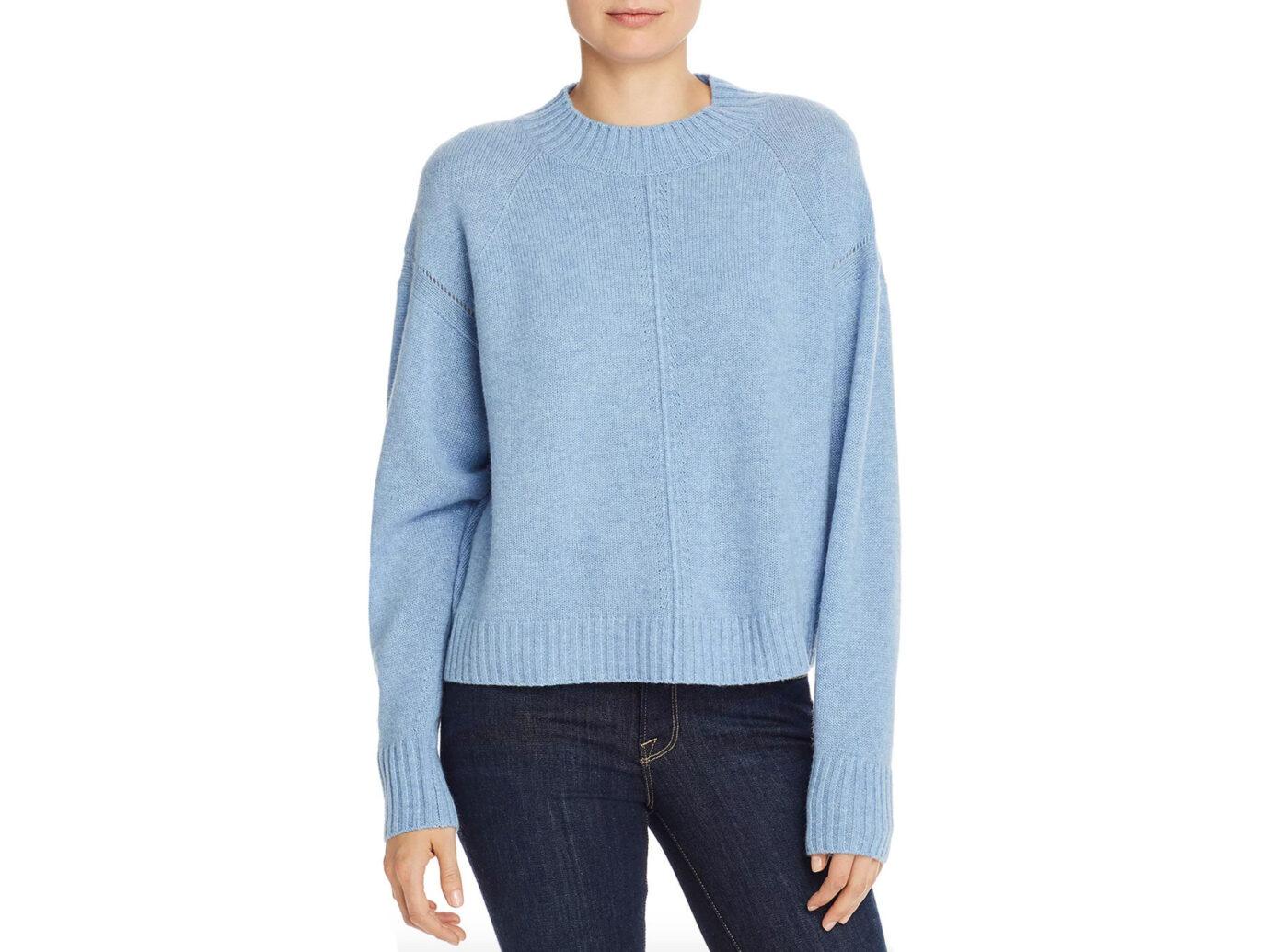AQUA Cashmere Seamed Boxy Cashmere Sweater - 100% Exclusive