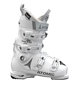 Atomic white women's ski boots