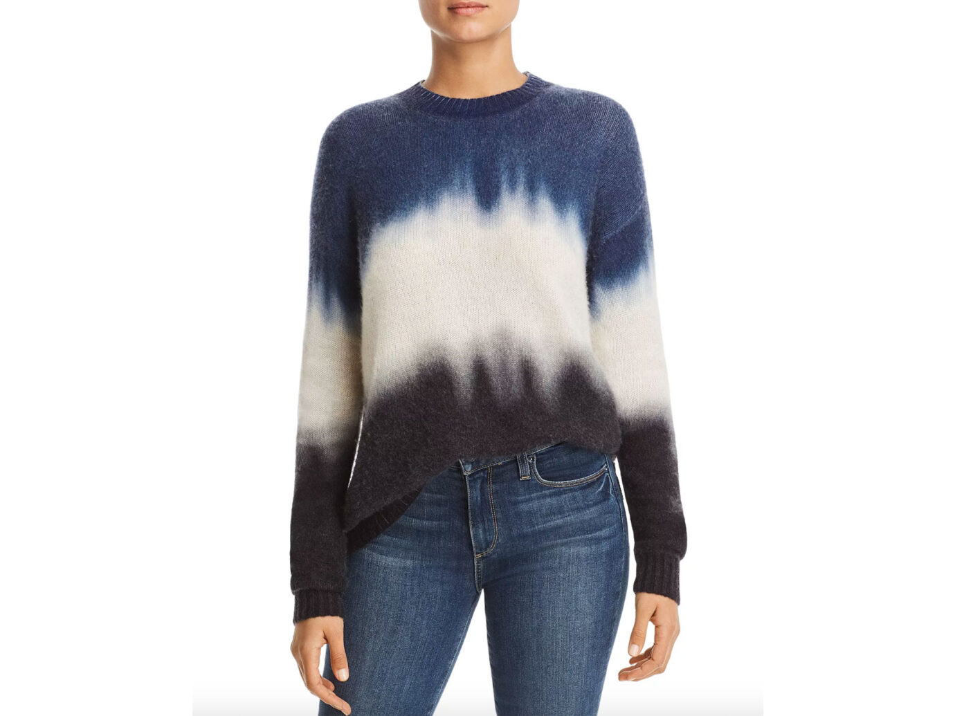 C by Bloomingdale's Dip-Dye Brushed Cashmere Sweater