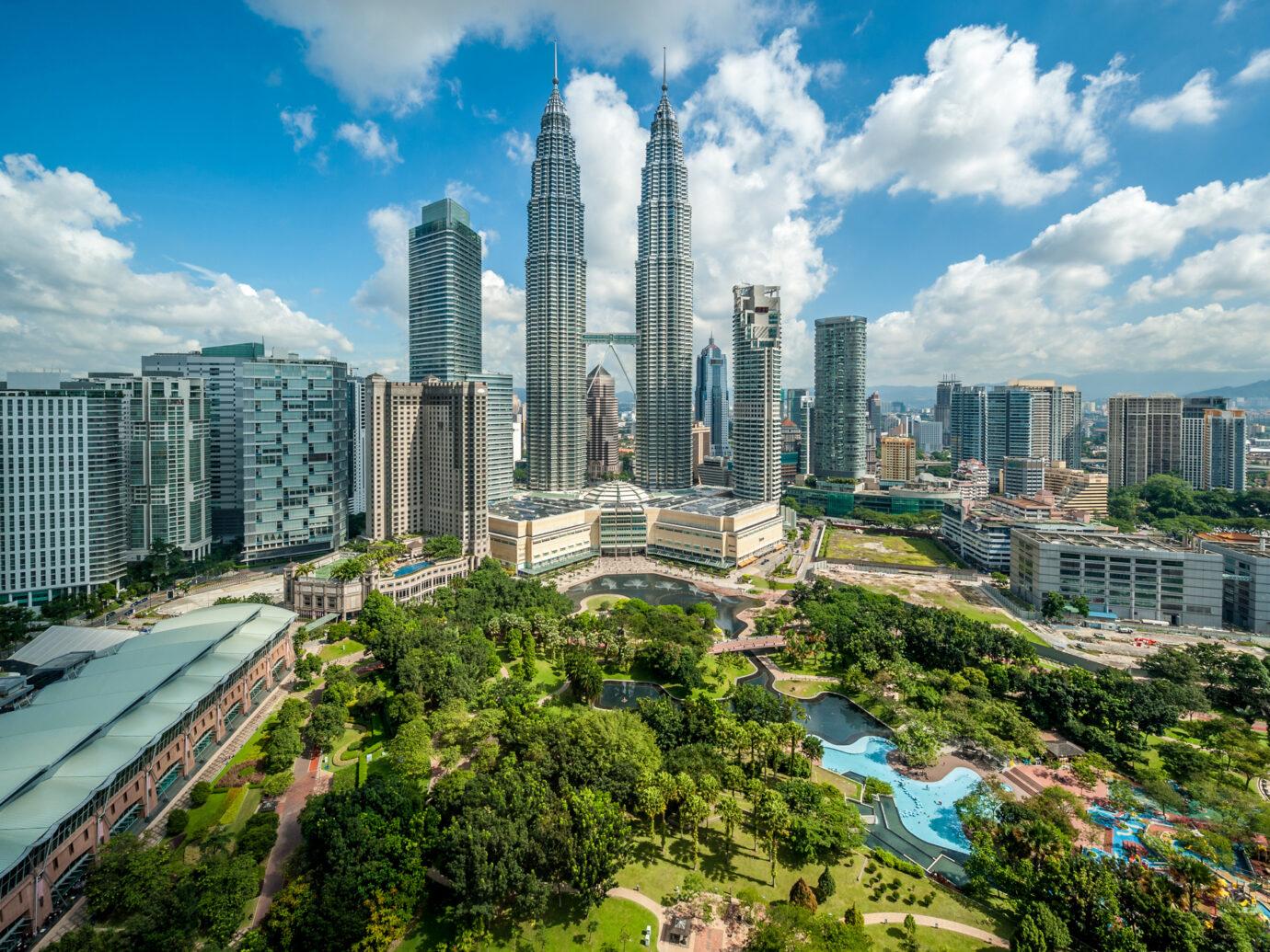 Kuala Lumpur skyline overlook, Malaysia