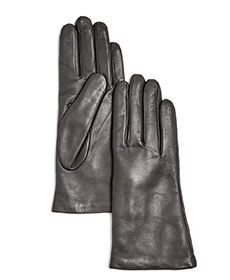 Cashmere-lined leather gloves by Bloomingdales