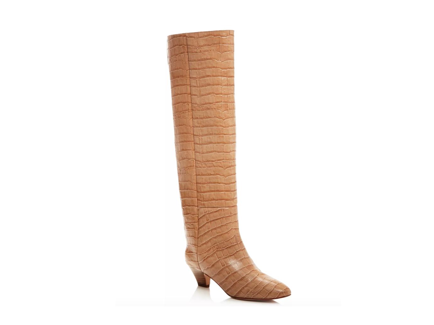 Miista Katerina Croc-Embossed Tall Boots
