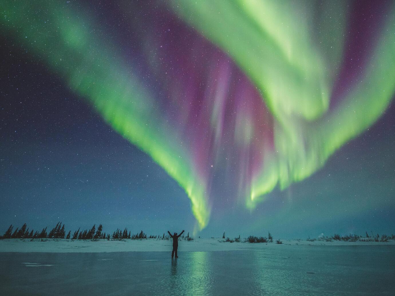 Northern Lights in Manitoba Canada