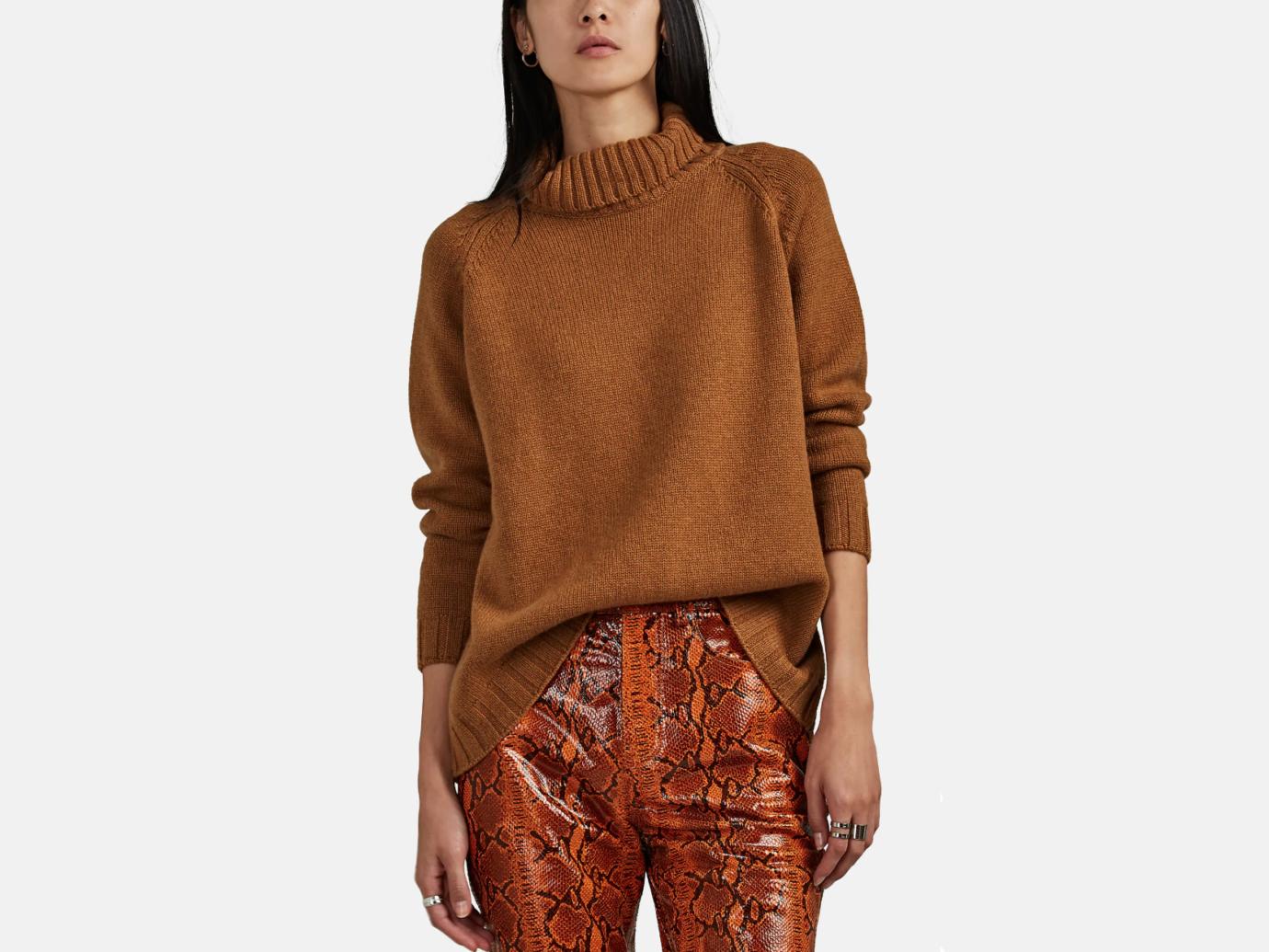Barneys New York Cashmere Turtleneck Sweater