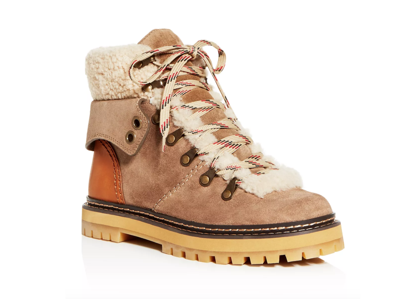 See by Chloé Shearling Hiker Boots