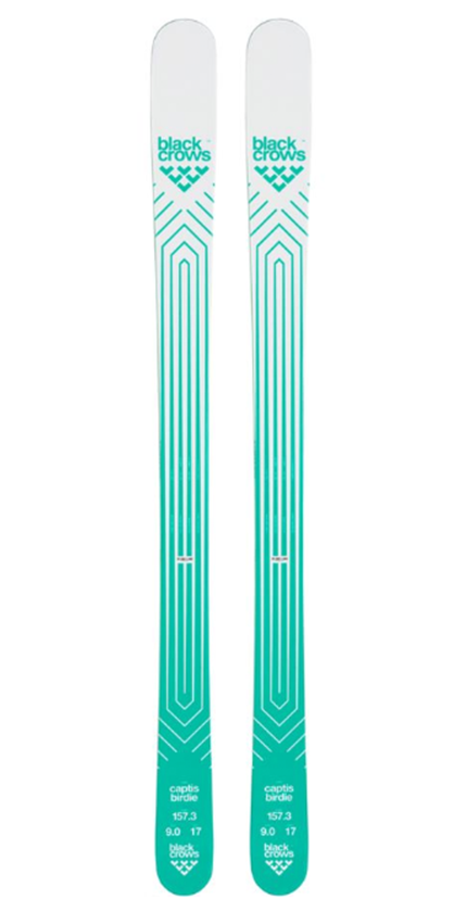Teal women's skis by Black Crows