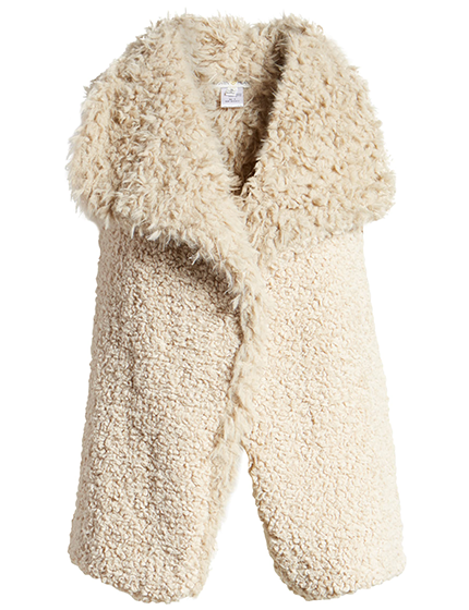 Reversible Faux Fur Vest by Woven Heart