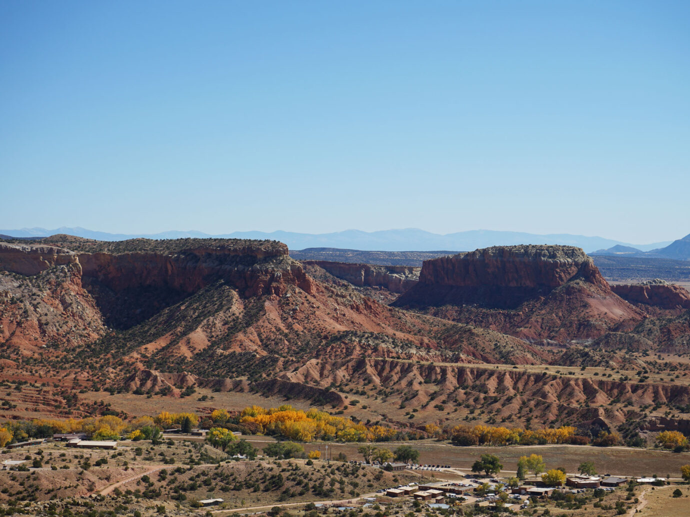 Landscape view from Ghost Ranch, Santa Fe