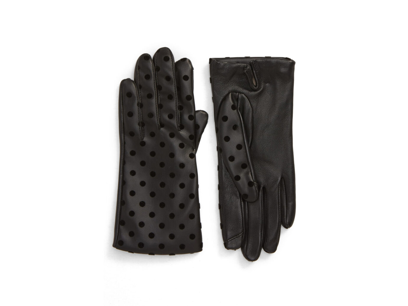 Nordstrom Flecked Dot Leather Gloves