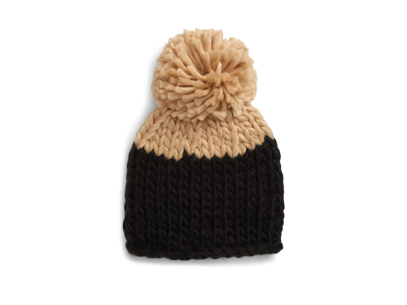 Free People Cozy Up Colorblock Pom Beanie