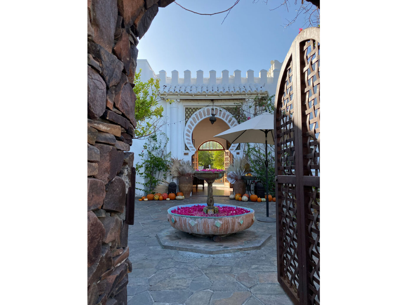 Korakia Pensione entryway